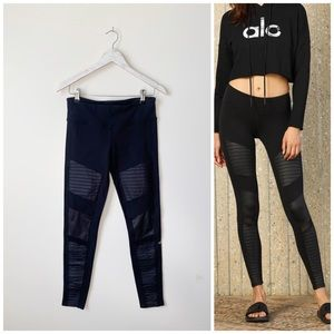 ALO Black Moto Leggings! Women's Size M Medium